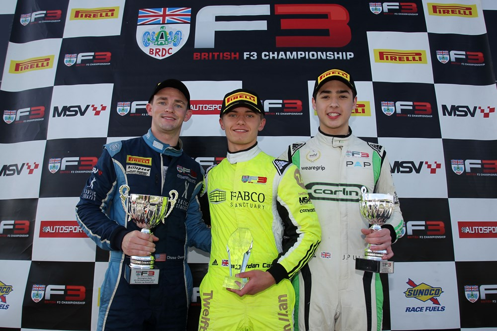 Jordan Cane earns 3rd British F3 Win at Donington