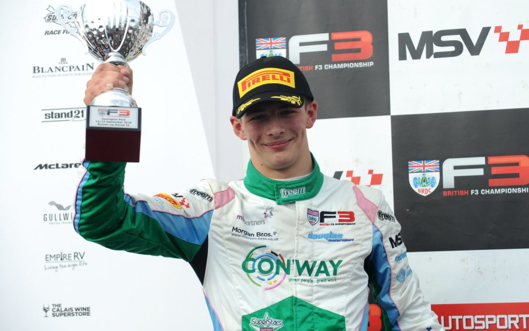 Double Podiums for Jewiss at Donington, finishes 4th in overall British F3 Championship